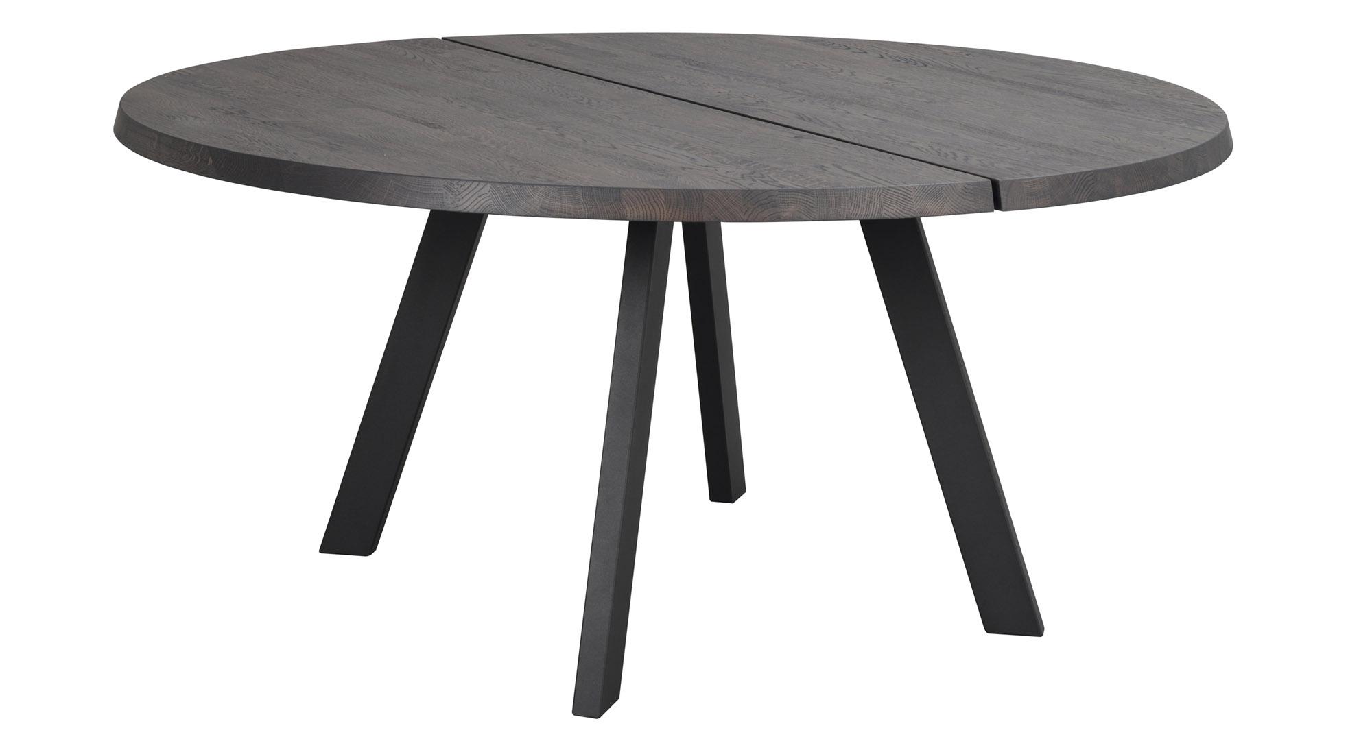 Fred matbord runt 160, mörkbrun