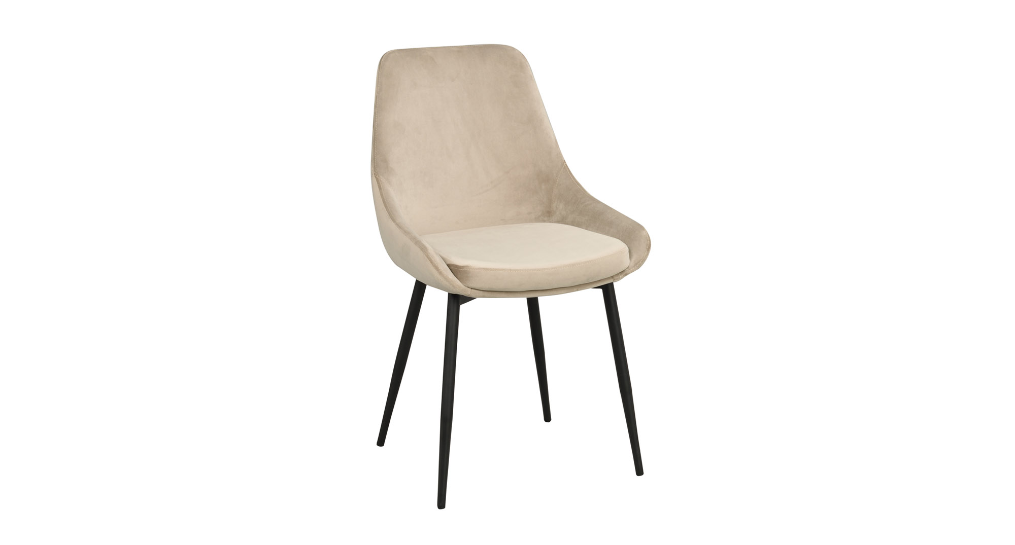 Sierra stol beige sammet