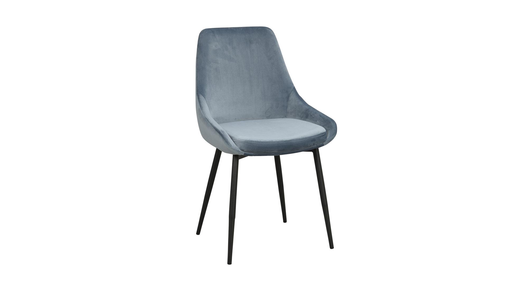 Sierra stol blå sammet