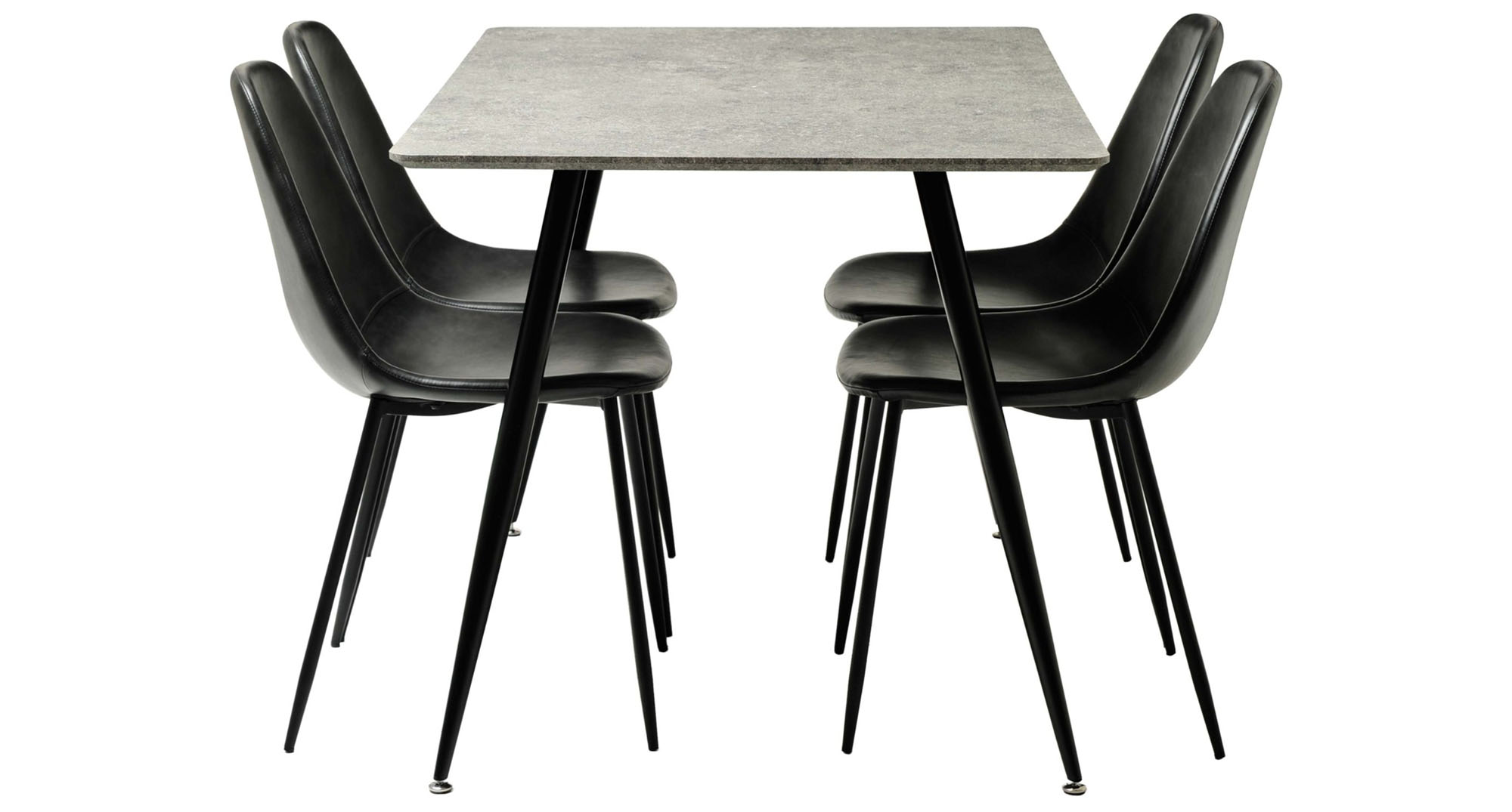 Black matbord med stolar